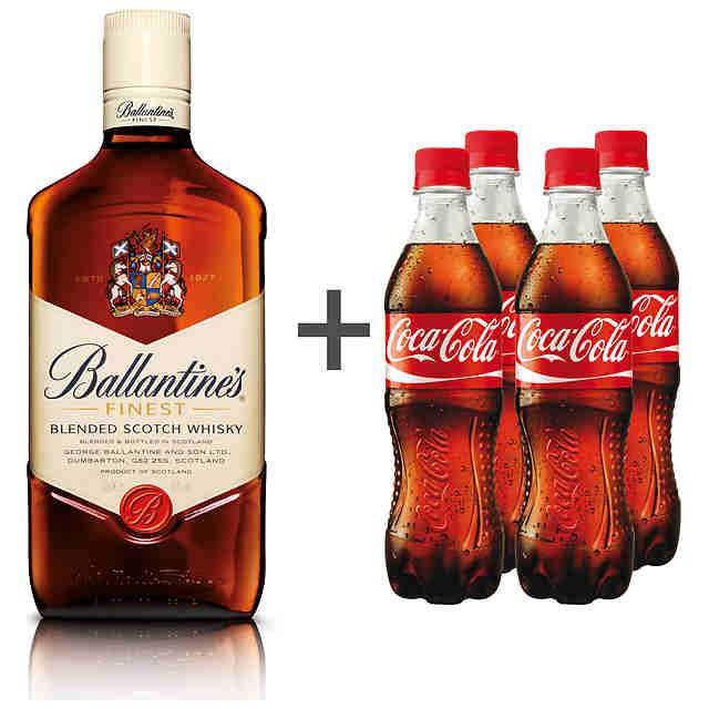 0,7l Ballantine's + 1l Coca Cola