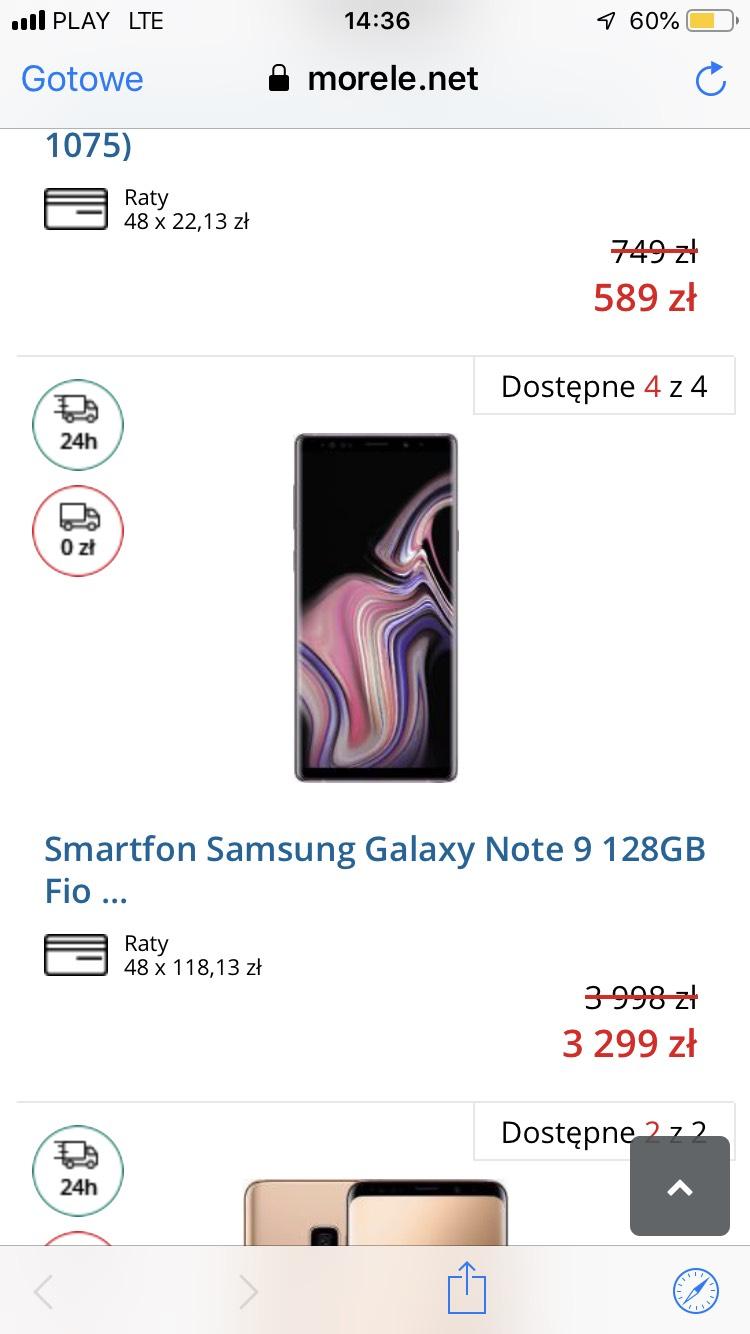 Samsung Galaxy Note 9 128GB Fioletowy