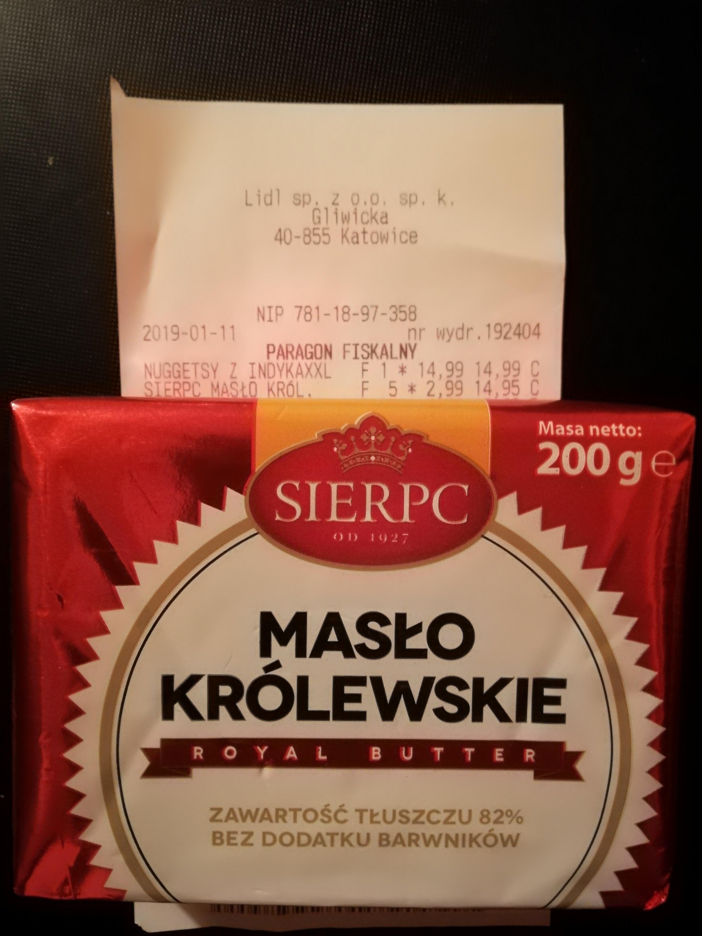 Masło Królewskie Lidl 2.99 !