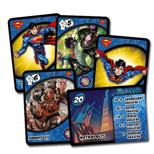 Gra Karciana Przygodowa Liga Sprawiedliwości Hero Dice: Superman