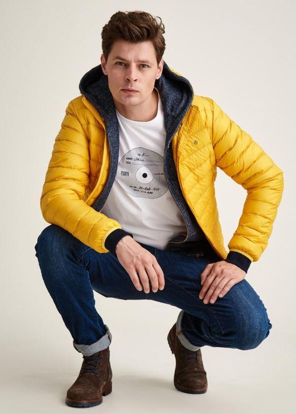 TATUUM - żółta przejściowa puchowa kurtka