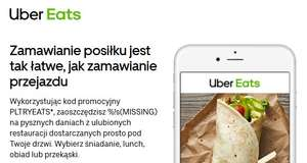 Uber Eats - Skorzystaj z 10zł zniżki