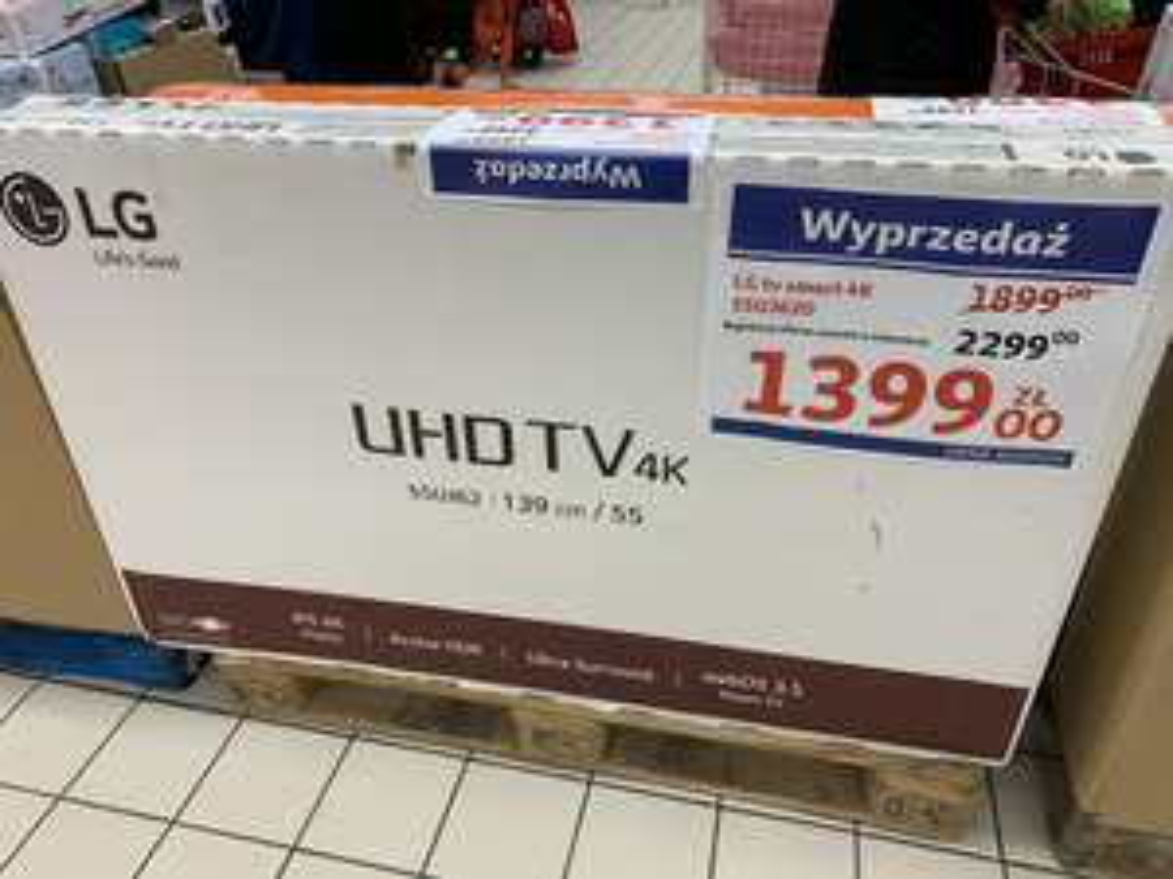 LG Smart TV 4K 55 cali @Auchan Gdynia