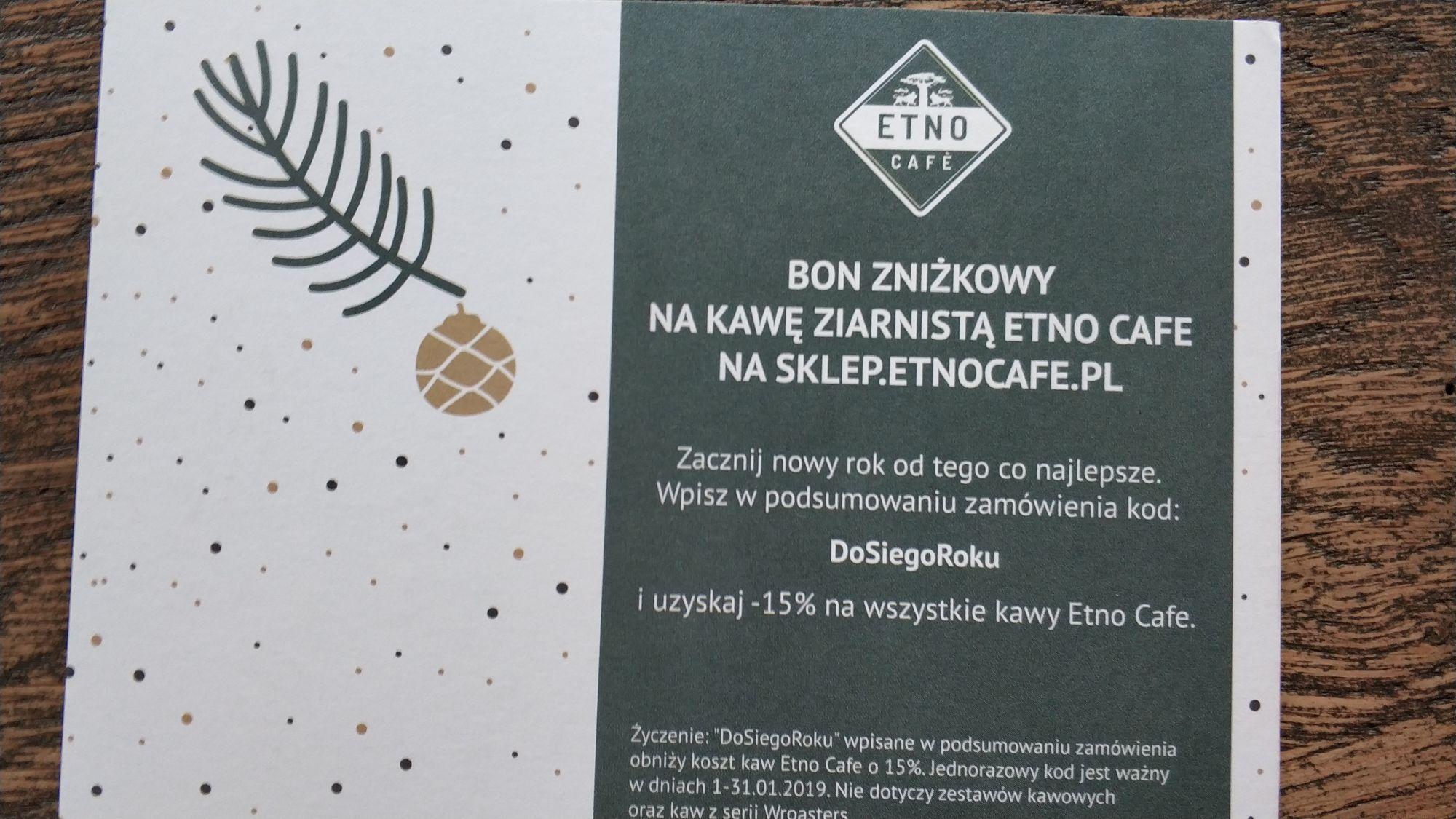 -15% na kawę ziarnistą @ Etno Cafe