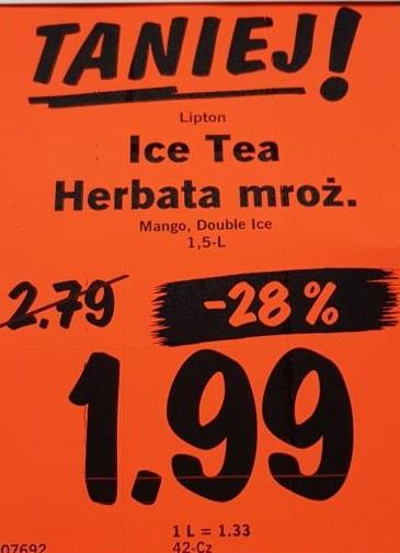 Lipton Ice Tea  Lidl 1,5L za 1,99pln