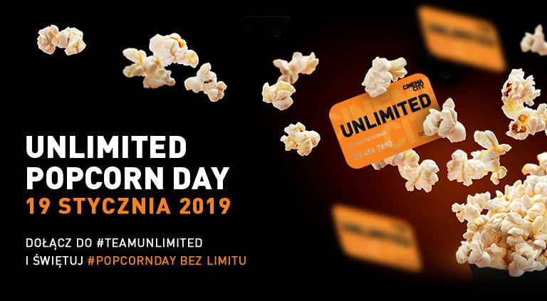 Darmowe dokładki popcornu 19.01.2019 - Cinema City Unlimited