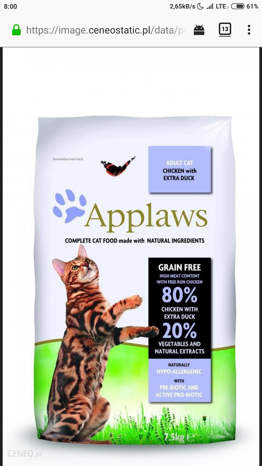 Applaws karma dla kota w dobrej cenie 7.5 kg