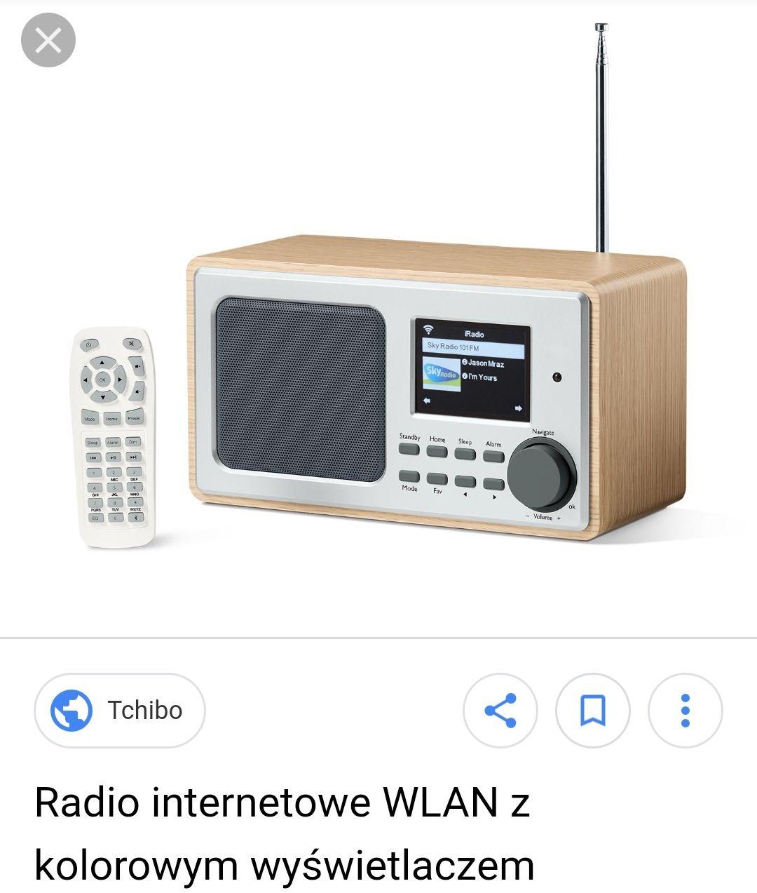 Radio internetowe z kolorowym wyświetlaczem za 219 w sklepie stacjonarnym Tchibo centrum aura Olsztyn.