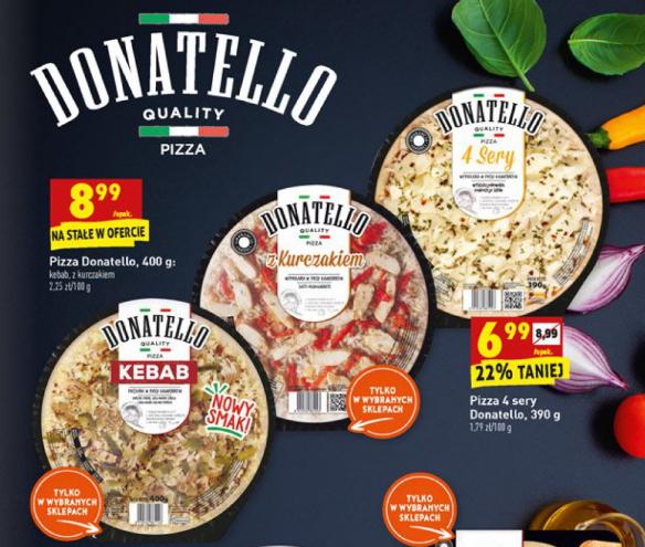 DONATELLO Smaczna pizza w dobrej cenie i kilku nowych smakach. BIEDRONKA