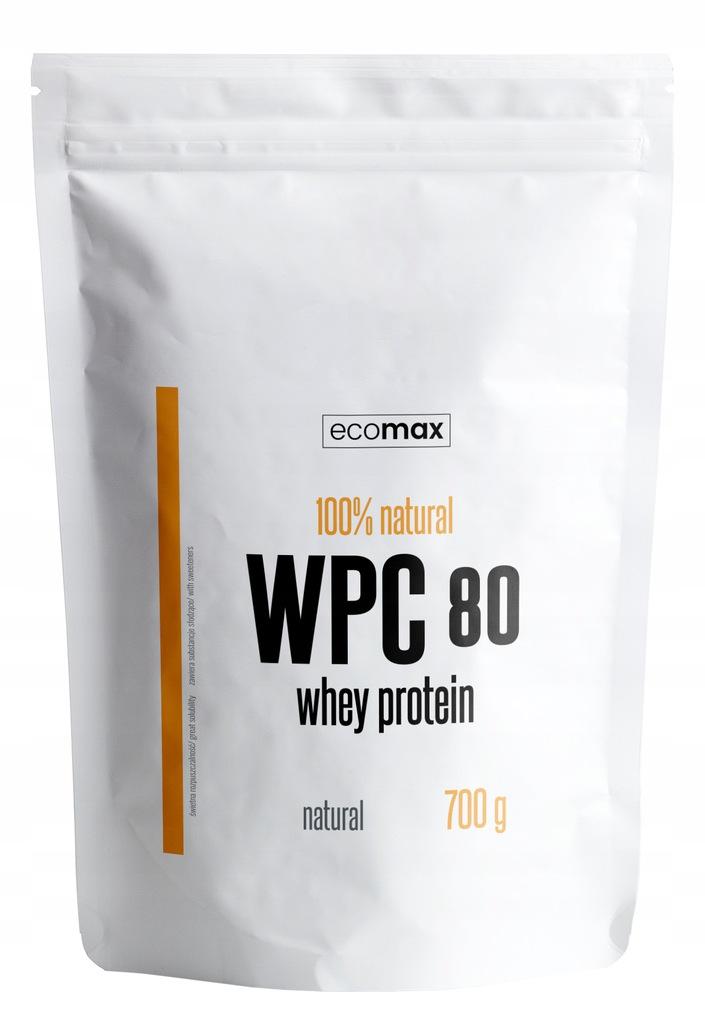Białko ECOMAX WPC 80 700 g + 6 batonów