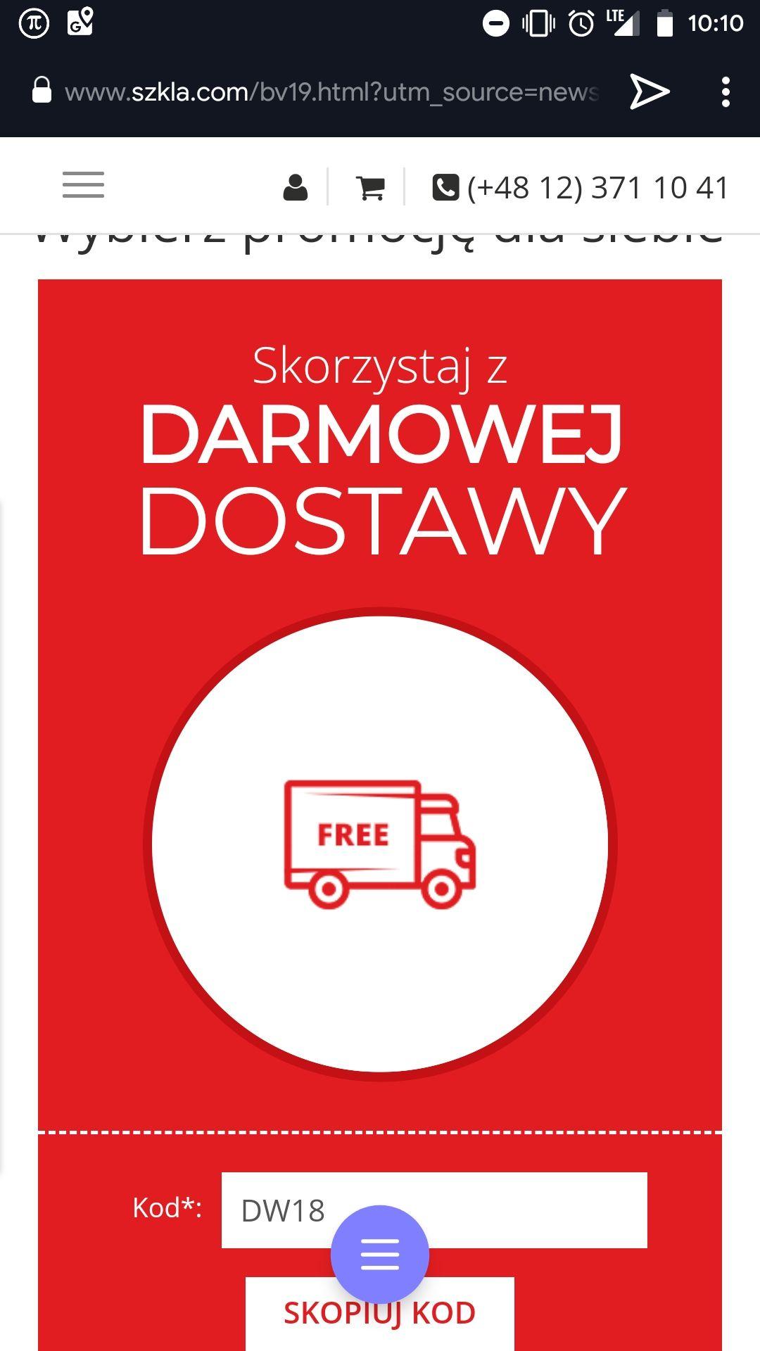 Darmowa dostawa soczewek na szkła.com