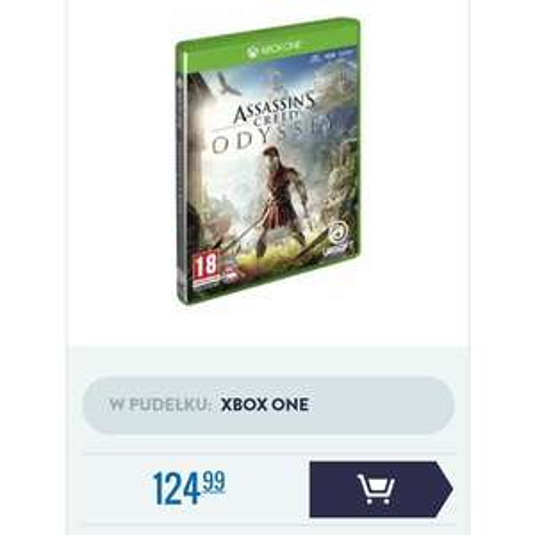 Assassin's Creed Oddysey na Xbox One w dobrej cenie, pudełko