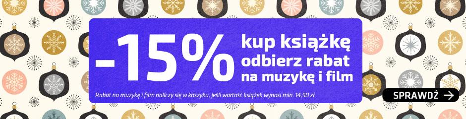 -15% na muzykę i fim przy zakupie książki @ Matras
