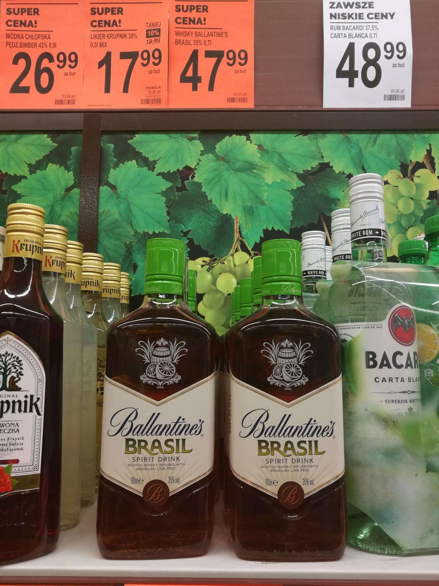 Whisky Ballantines Brasil 0,7 w fajnej cenie