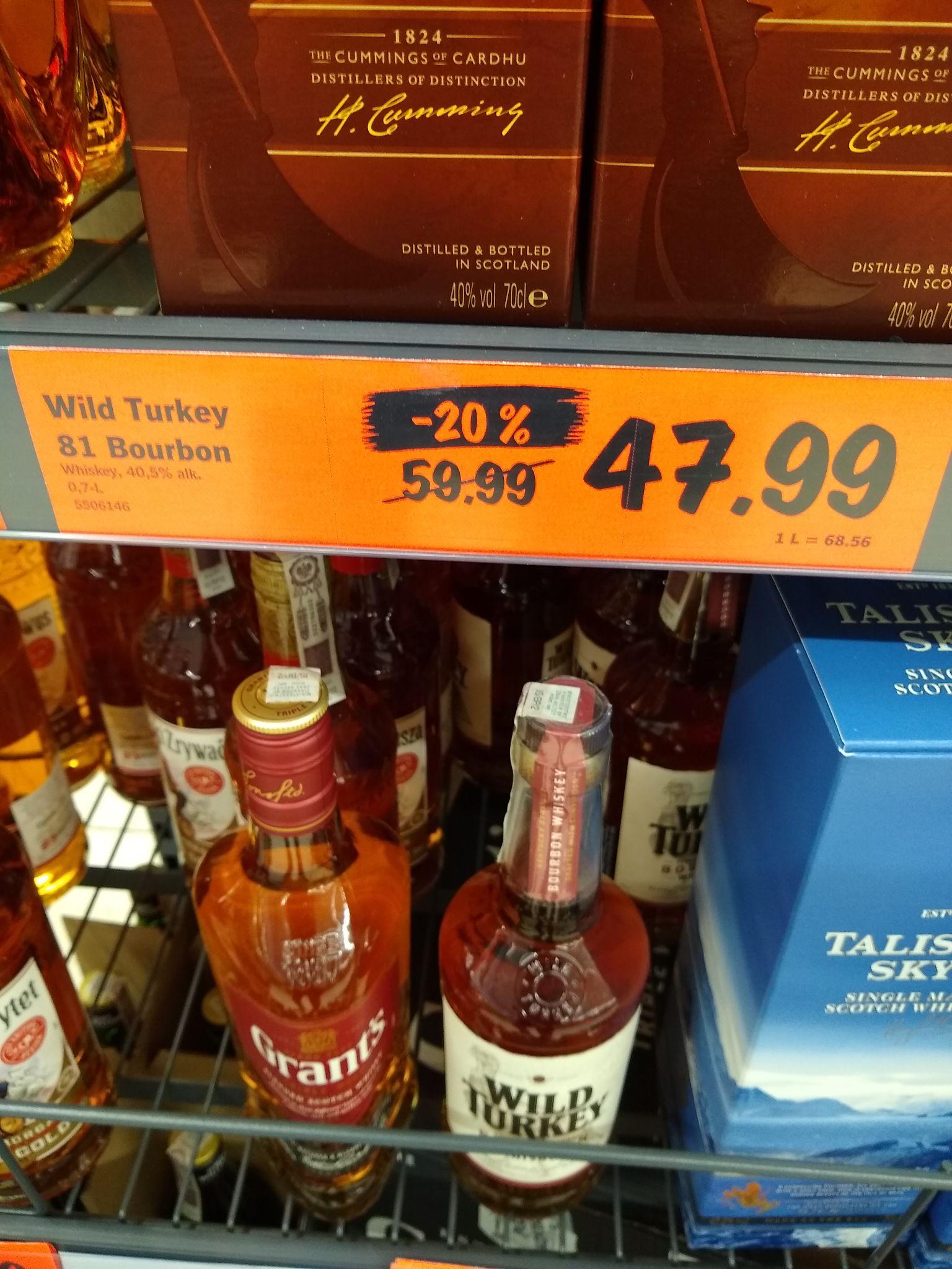 Wild Turkey 81 bourbon whiskey whisky Lidl