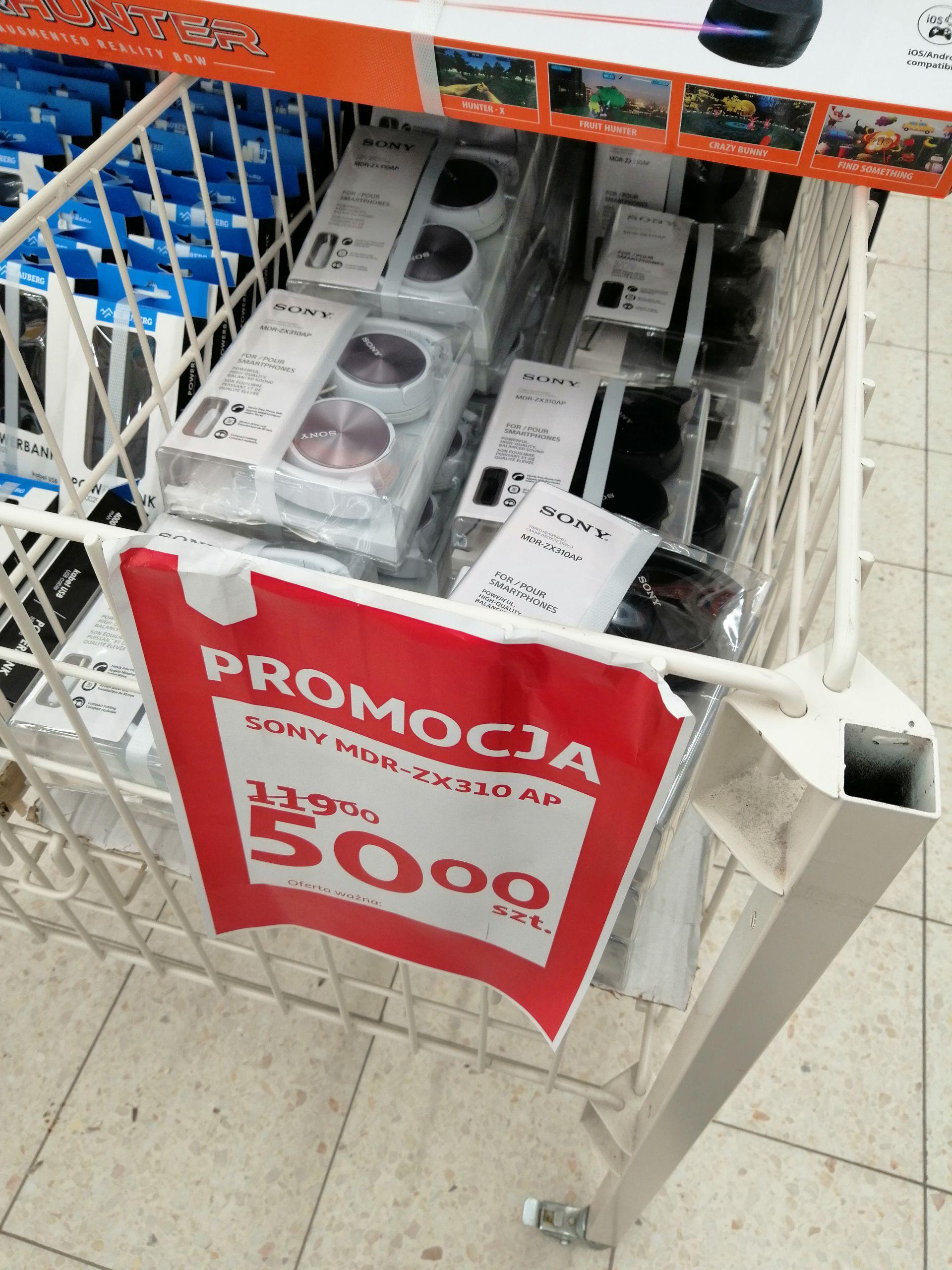 Słuchawki Sony MDR-ZX310AP (Auchan, Dąbrowa Górnicza)