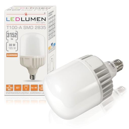 MOCNA Żarówka E27 30W=185W LED SMD 3152lm Neutralna CCD