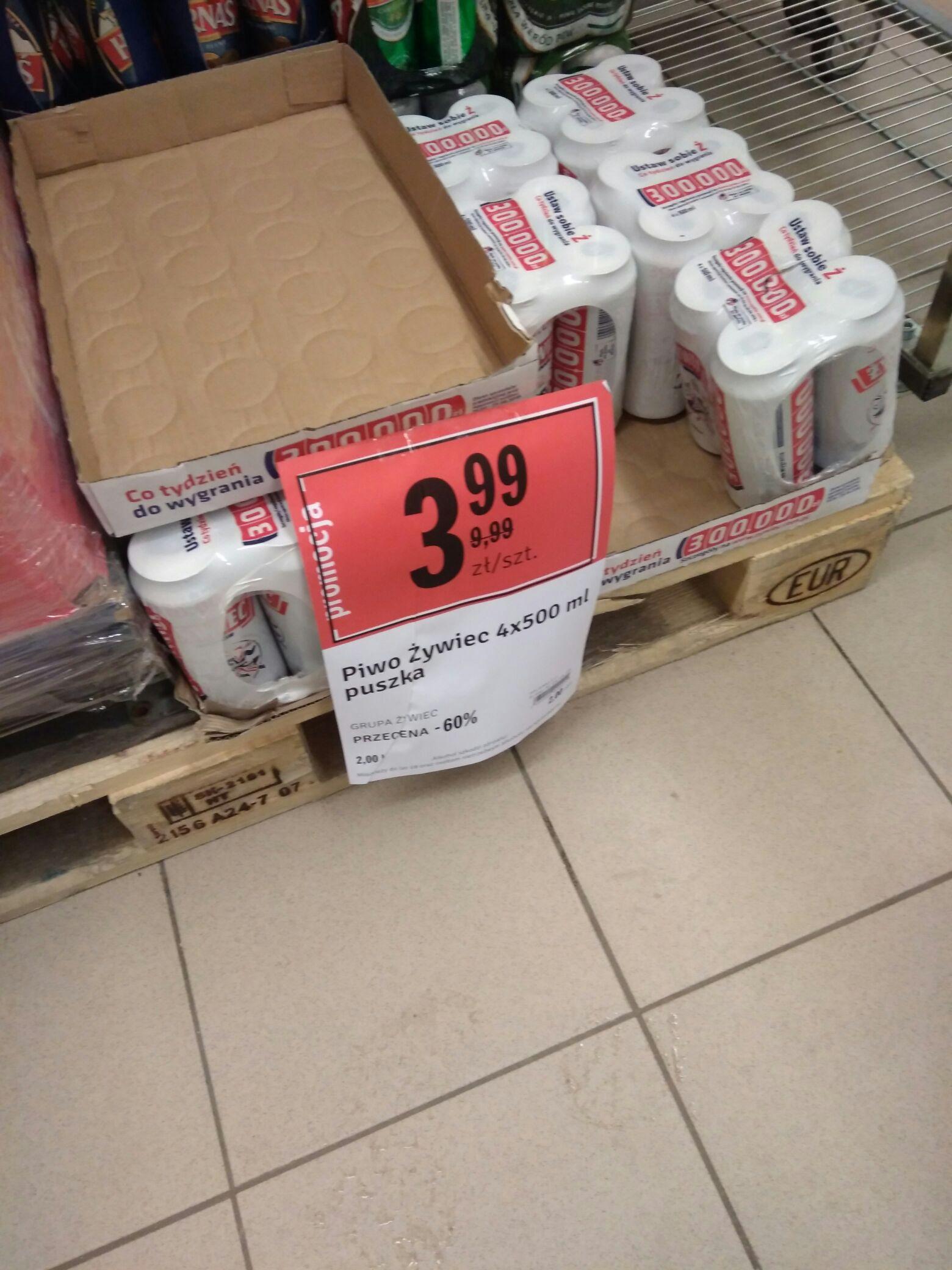 Piwo Żywiec 4 pack Stokrotka Busko Zdrój