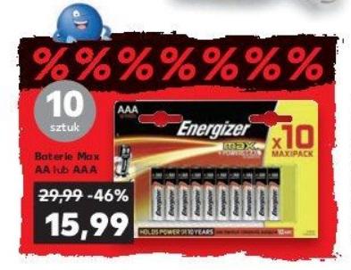 Energizer MAX AA lub AAA 10 szt. Kaufland