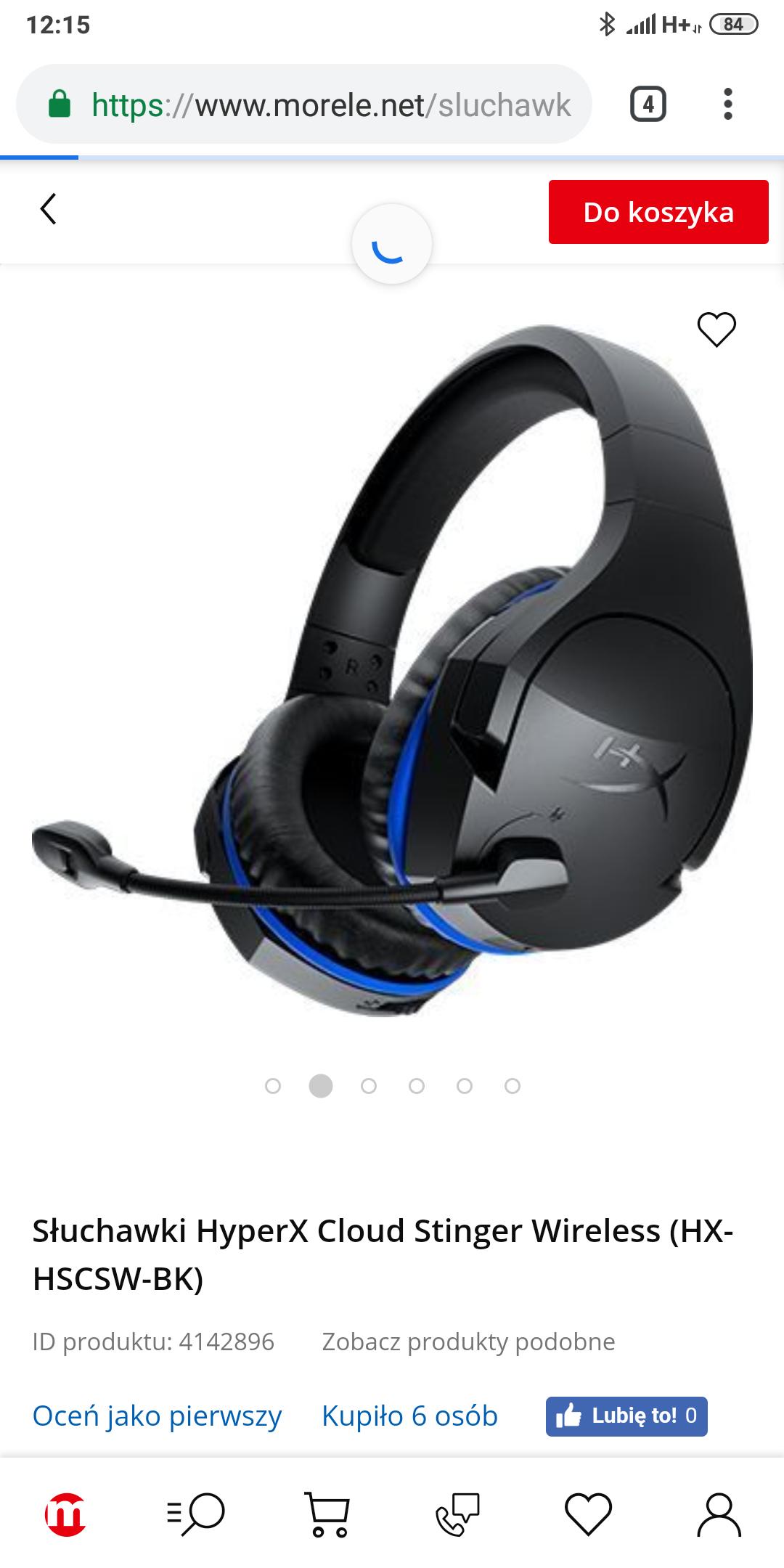 Słuchawki HyperX Cloud Stinger Wireless