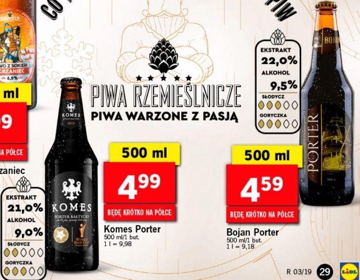 Piwa w stylu Porter bałtycki: Komes (4,99zł) i Bojan (nowość za 4,59zł) @ Lidl