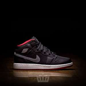NIKE AIR JORDAN 1 MID BG BLACK COOL GREY GYM RED 37.5 oraz 39