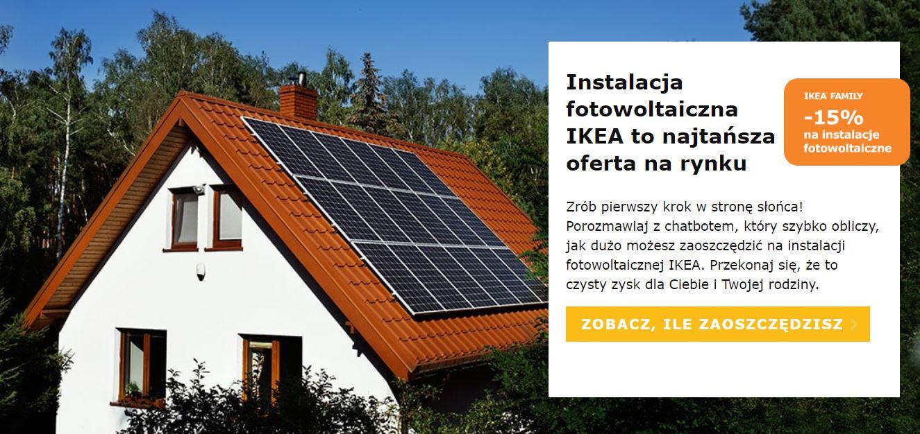 -15% i raty bez prowizji na instalacje fotowoltaiczne/panele słoneczne @ Ikea