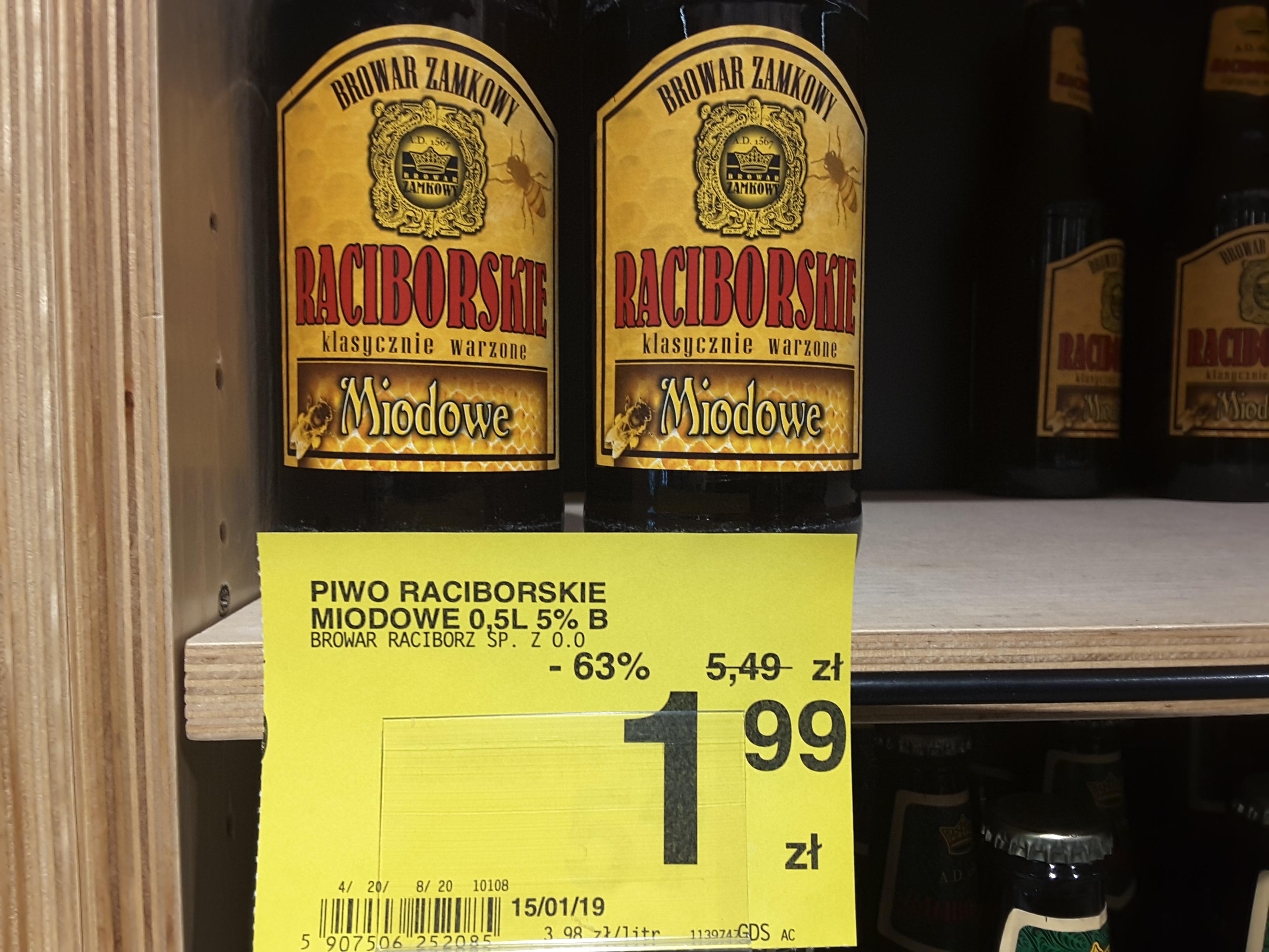 Piwo Raciborskie Miodowe 0,5 l, Carrefour