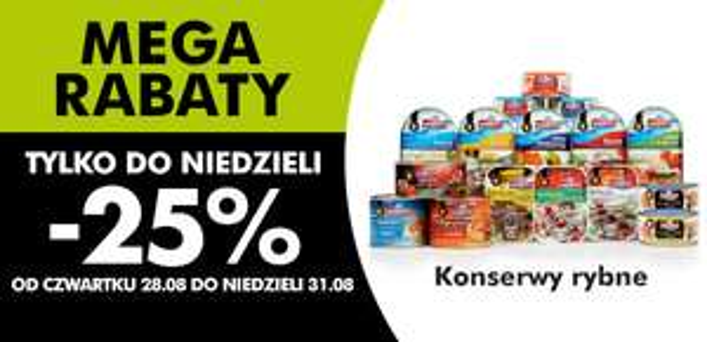 25% rabatu na produkty rybne @ biedronka