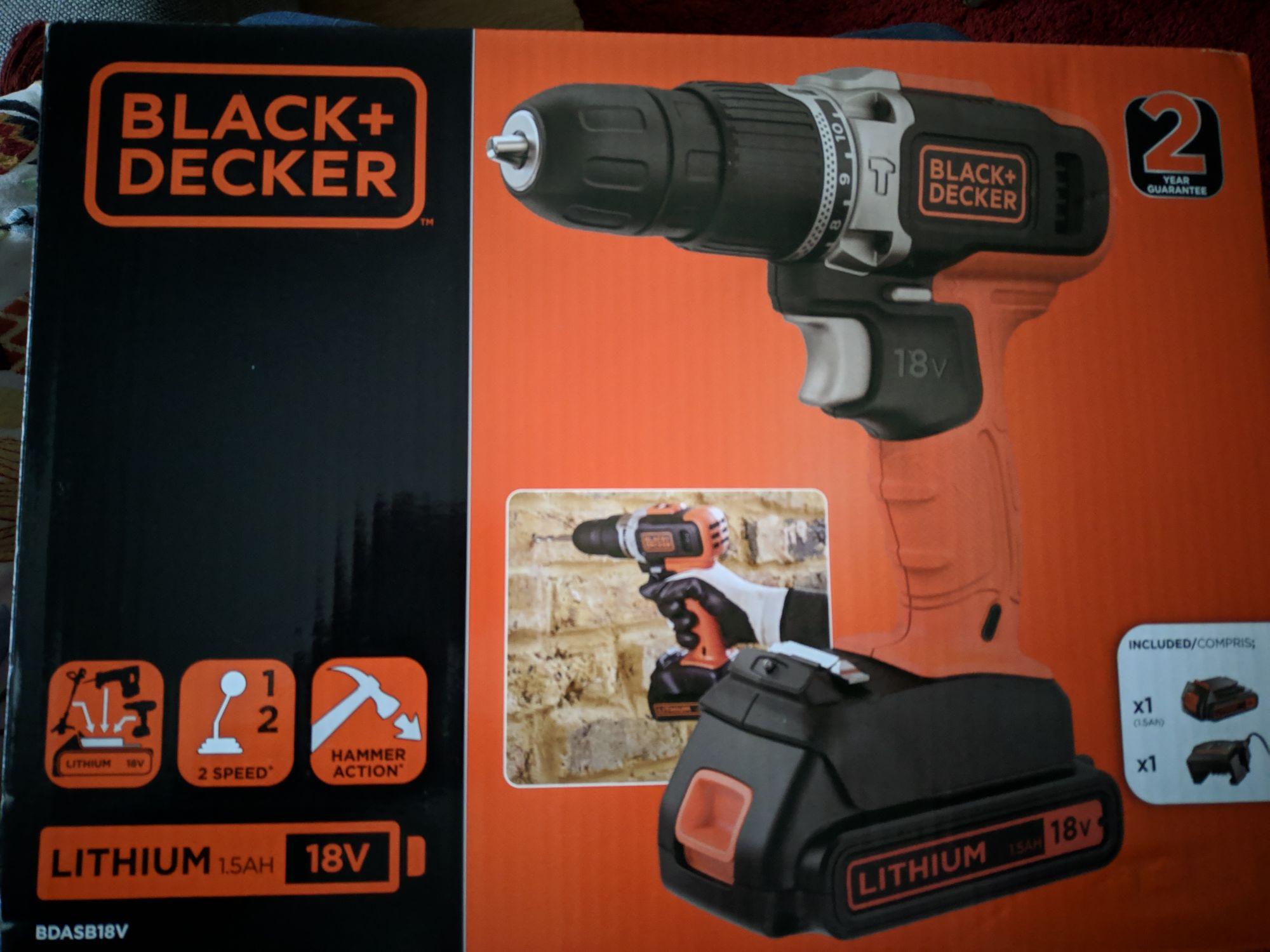 Wiertarko wkrętarka Black+Decker BDASB18V Lidl