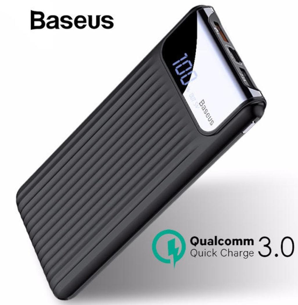 Baseus 10000mah PowerBank QC 3.0 usb-c, micro USB, QC 3.0, trzy kolory do wyboru.