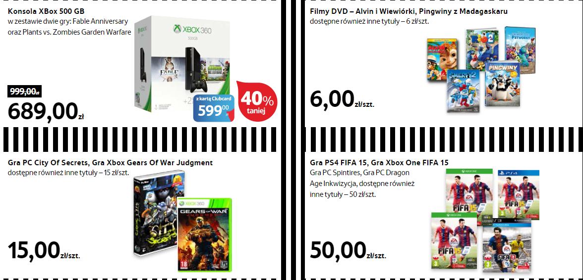 [Black Friday] FIFA15 [Xbox One, PS4] za 50zł, Gears of War za 15zł [X360], Xbox 360 500GB +2 gry za 599zł @ Tesco