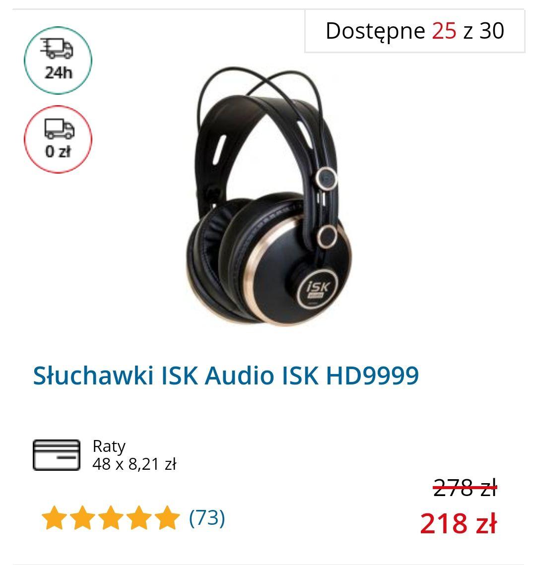 Słuchawki ISK HD 9999