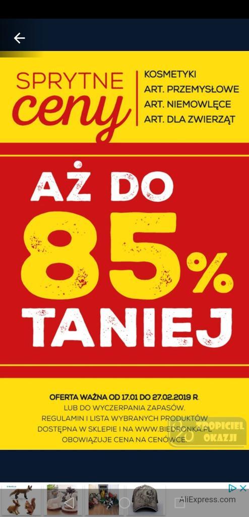 Sprytny Tydzień. -85% na kosmetyki, art. przemysłowe, niemowlęce, dla zwierząt |Biedronka