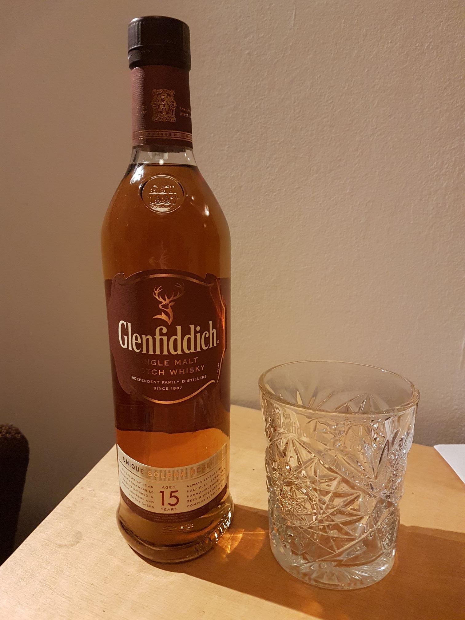 Glenfiddich 15yo + szklanka