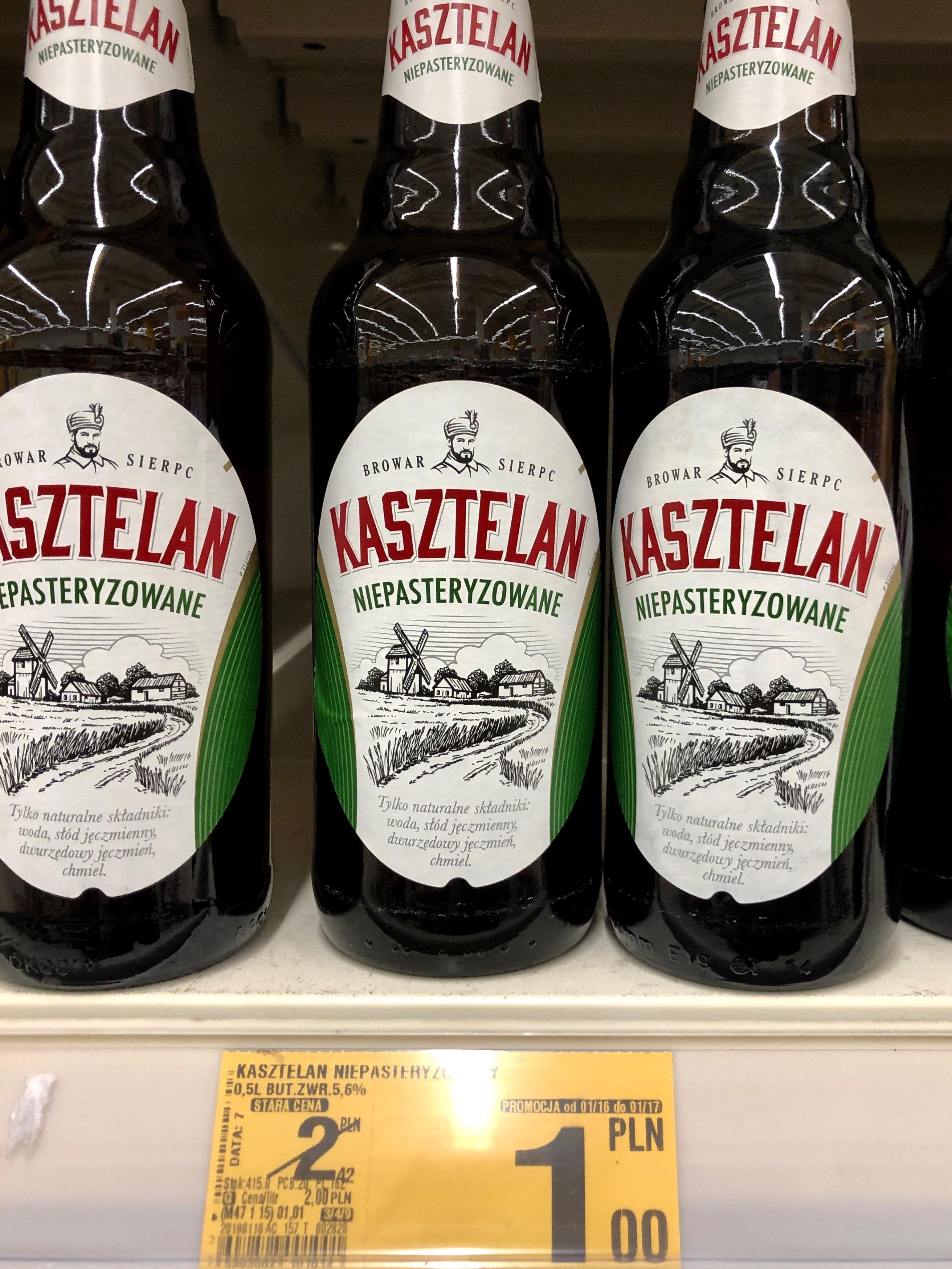 Piwo Kasztelan   oraz inne   AUCHAN
