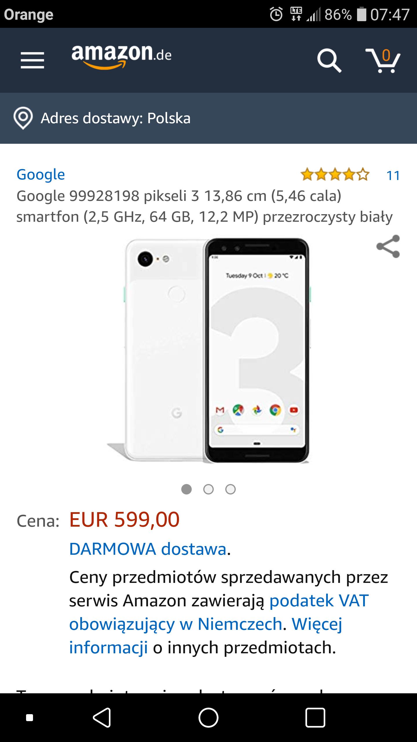 Google Pixel 3 white
