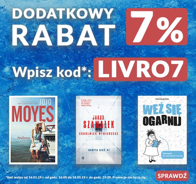 Księgarnia LIVRO dodatkowe 7% na wszystko