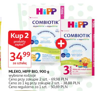 Mleko HIPP Combiotik 900g za 34,99zł (przy zakupie 2szt.) @ Auchan