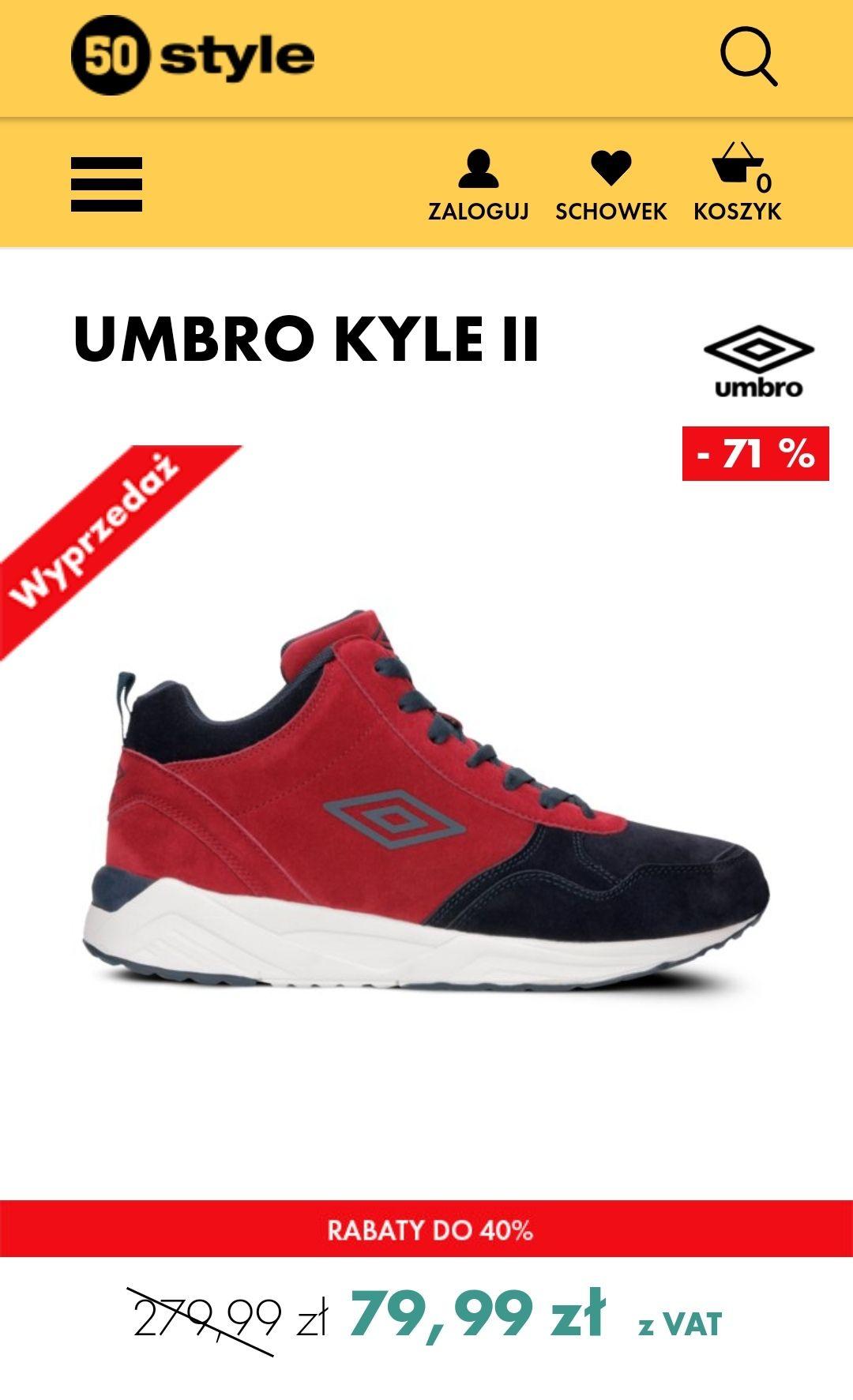 Buty UMBRO kyle (3 kolory) @ 50style