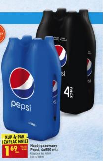 Napój gazowany 4x Pepsi (4 pak 6,76 zł) @biedronka