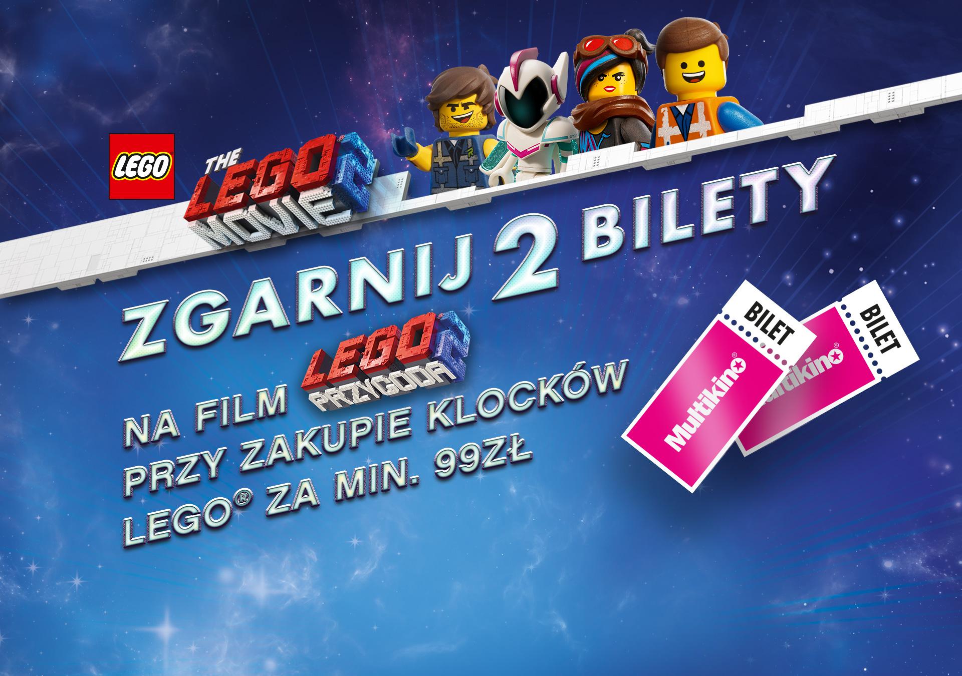 Dwa bilety na film LEGO Przygoda 2 gratis przy zakupie LEGO za min. 99zł