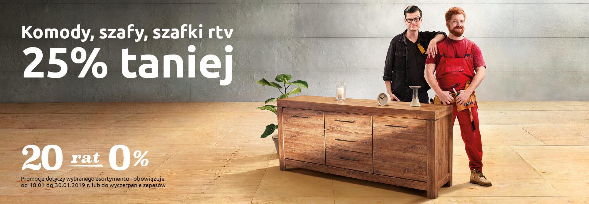 -25% na szafki RTV, komody i szafy + raty 20x0% @ BRW