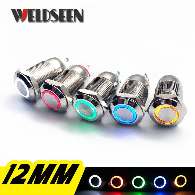 Promocja z cashbackiem EPN -90% Metalowe przełączniki podświetlane 12mm i 16mm.
