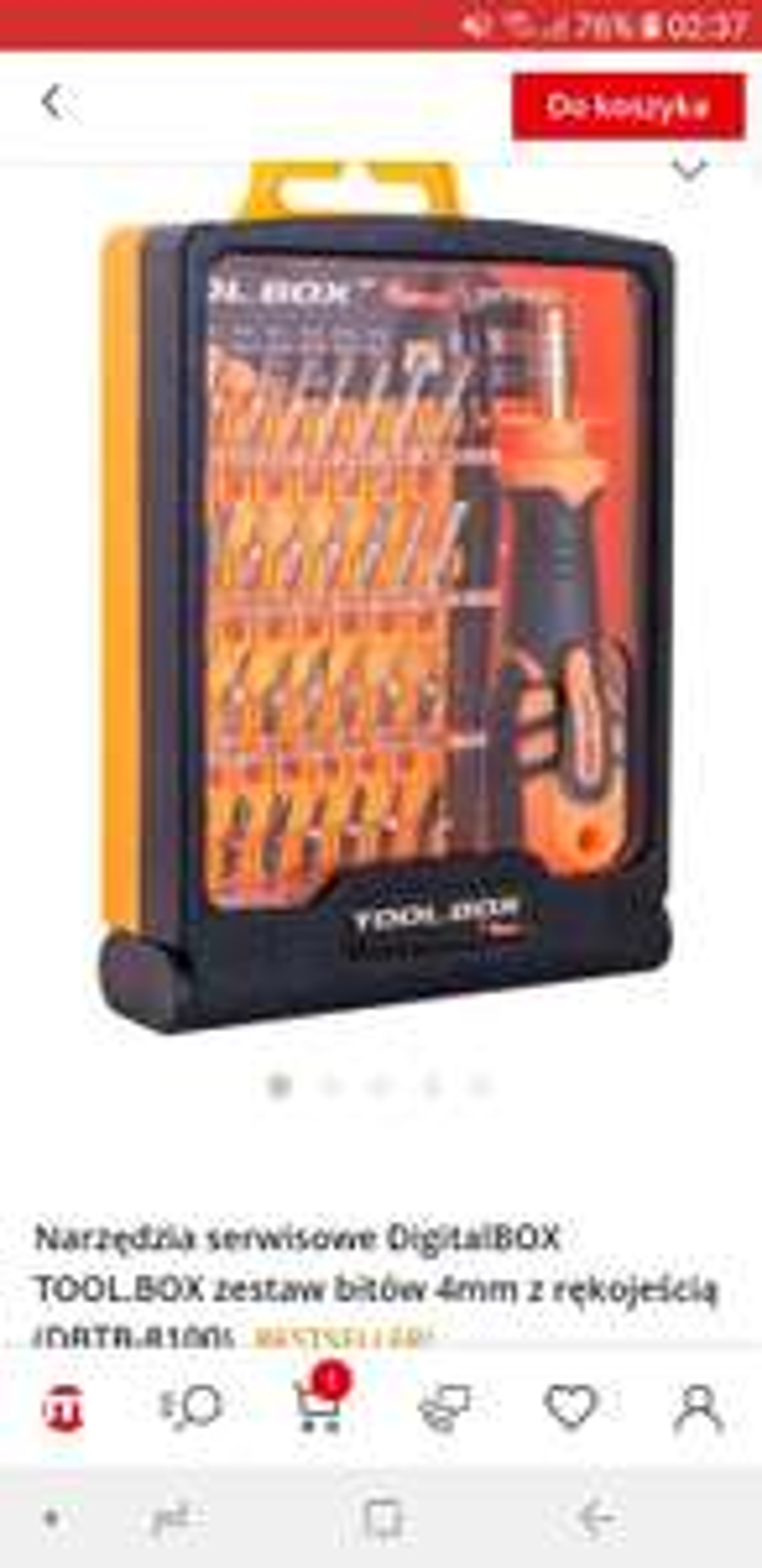 dla Złotej Rączki zestaw narzędziowy serwisowy z 30 bitami magnetycznymi 4 mm bardzo atrakcyjna cena Toolbox