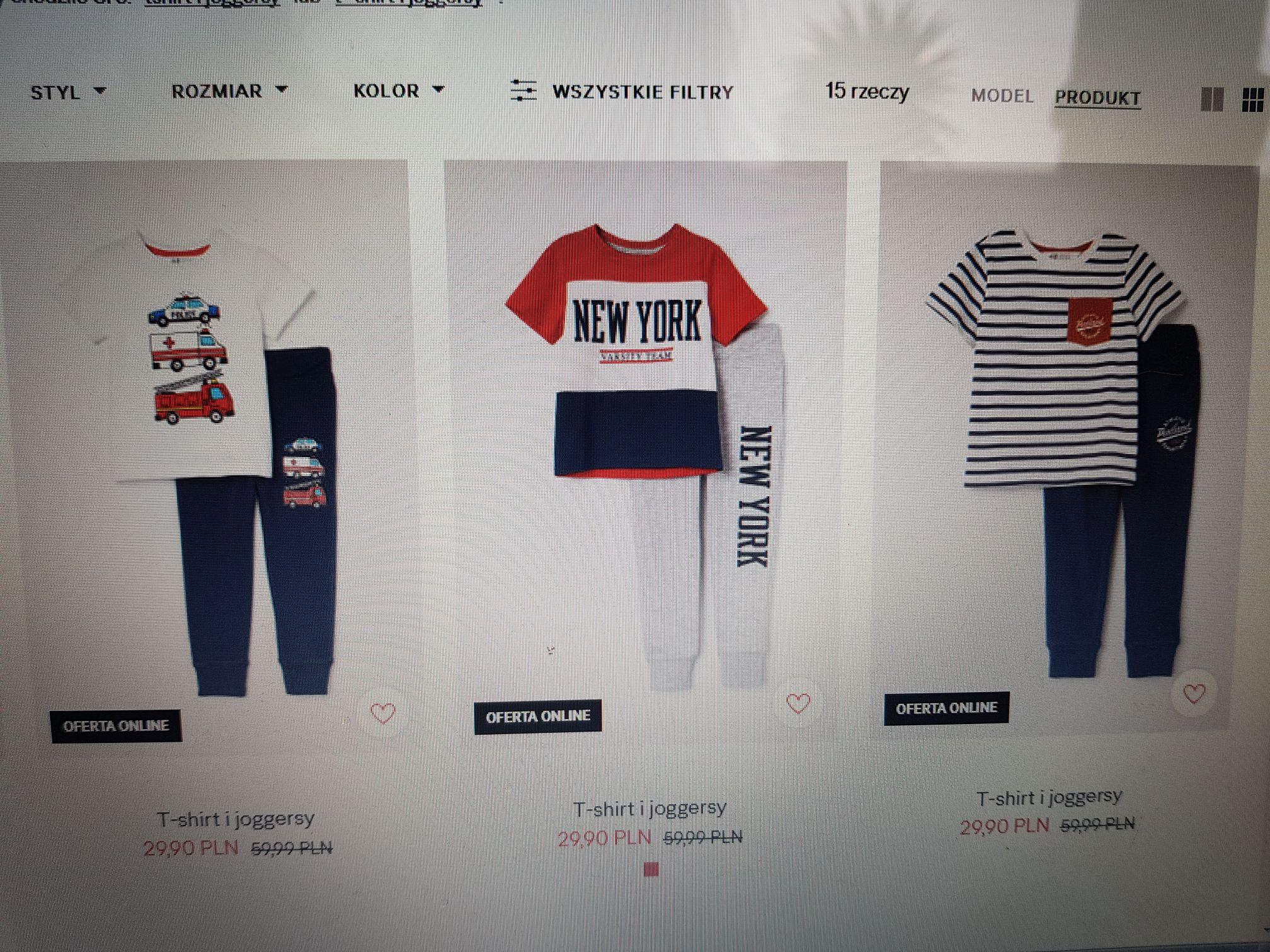 H&M Komplet T-shirt i joggersy