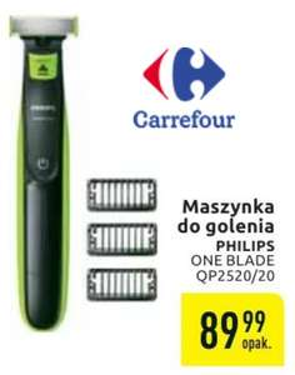 !!! MOŻLIWE 80,99zł !!! - Philips ONEBLADE QP2520/20 - Carrefour (22.01.2019 - 02.02.2019) - taniej chyba nie było :)