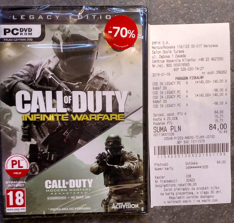 PC. Call of Duty Infinite Warfare Legacy Edition. Empik.