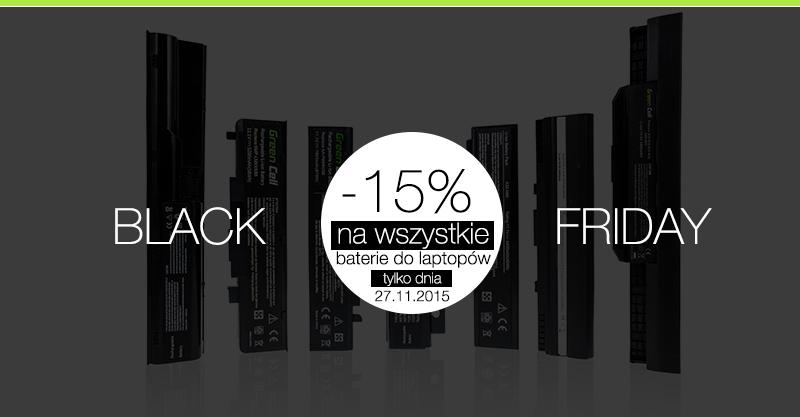 [BLACK FRIDAY] 15% rabatu i darmowa wysyłka na wszystkie baterie do laptopów @ŚwiatBaterii