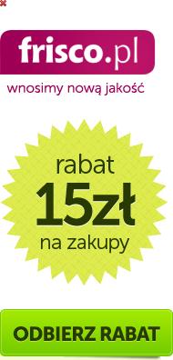 15 zł rabatu oraz darmowa dostawa @ frisco.pl